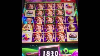 Willy Wonka Pure Imagination Slot Max Bet! Oompa Loompa Bonus Multiplier Tease!!