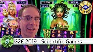 #G2E2019 Scientific Games - Medusa Unleashed, Athena Unleashed Slot Machine Previews