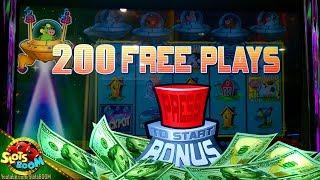 360 FREE GAMES!!! BIG WIN on Invaders Return From Planet Moolah 1c Wms Slot