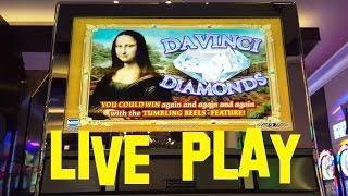 Davinci Diamonds live play High Limit Denom $10.00/Spin IGT Slot Machine