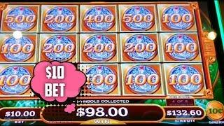 WE GOT A FULL SCREEN DOUBLE UP! MIGHTY CASH HIGH LIMIT SLOT MACHINE | $10 BET BONUS