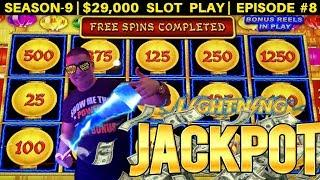 High Limit Lighting Link Slot Machine HANDPAY JACKPOT | Season 9 | Episode #8