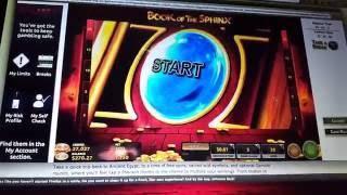 Book of the Sphinx Online Win - Crazy Bonus!!