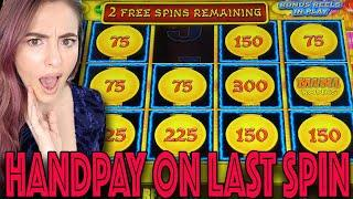 Up to $62/SPIN! LAST SPIN HANDPAY JACKPOT on HIGH LIMIT Lightning Cash in Vegas!