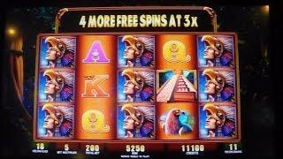 Montezuma MAX BET Bonus Round Free Games Spins Win w/ 3X RETRIGGERS