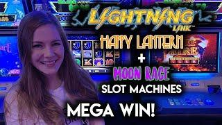 Monster Win on Lightning Link Moon Race!! Featuring Awesome NEW Games from Gambino Slots!!