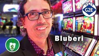 #G2E2018 Bluberi - Sir Mix-a-Lot, Cherries Wilder, Highborn Dragon slot machines