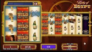 Lady of Egypt slots - 400 win!