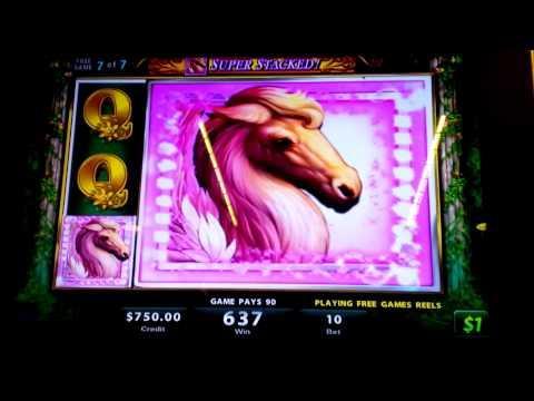 """Golden Goddess Slot Machine Bonus Round $10 Max Bet - """"The Horse"""""""