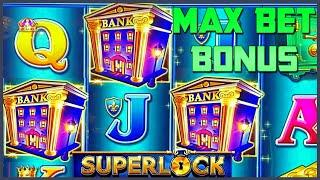 HIGH LIMIT SUPERLOCK Lock It Link Piggy Bankin' ⋆ Slots ⋆$30 MAX BET BONUS Round Slot