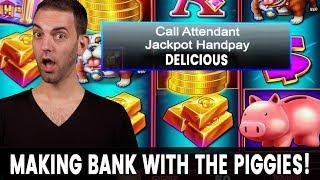• Piggy JACKPOT Handpay! • FREE GAMES BONUS!