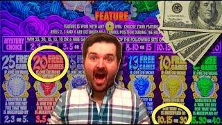 MYSTERY PICK UPGRADES ARE THE BEST!!!! HUGE WIN ON 5 DRAGONS GOLD SLOT MACHINE WITH SDGUY