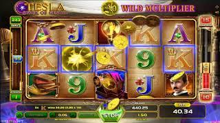 Tesla Spark of Genius casino slots - 97 win!