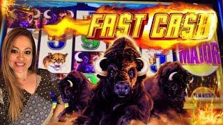 •ARISTOCRAT FAST CASH BUFFALO DELUXE FREE GAMES! • •MAJOR WIN!