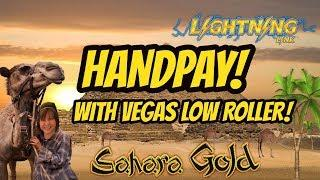 HANDPAY WITH VEGAS LOW ROLLER! LIGHTNING LINK!