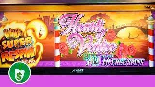Hearts of Venice Hot Hot Super Respin slot machine, bonus