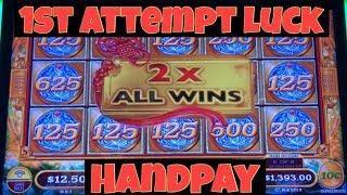 • Handpay Jackpot • Max Bet $12.50 Mighty Cash Long Teng Hu XIAO Slot Machine Casino Pokies