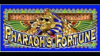 Pharaohs Fortune Slot Machine-Live Play-Dollar Denomination