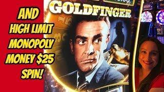 HIGH LIMIT MONOPOLY MONEY & NEW JAMES BOND GOLDFINGER