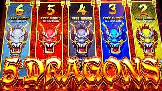 GOING FOR MOST VOLATILE FEATURE! ⋆ Slots ⋆ NEW 5 DRAGONS RISING JACKPOTS Slot Machine (Aristocrat Ga