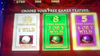 Aristocrat 50 Dragons deluxe Max bet slot machine free spins bonus