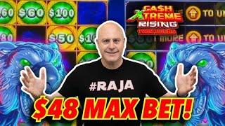 ⋆ Slots ⋆ Double Screen Bonus Jackpot! ⋆ Slots ⋆ $48 Max Bet Spins on Cash Extreme Rising Twin Tigers