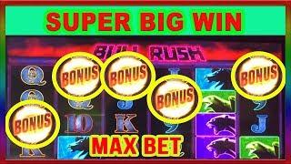 ** RARE 5 SYMBOL TRIGGER ON NEW BULL RUSH GAME ** MAX BET ** SLOT LOVER ** • SLot Lover