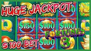 HIGH LIMIT Fortunes 3 - Echo Fortunes MASSIVE HANDPAY JACKPOT $10K+ ⋆ Slots ⋆️$100 BONUS ROUND Slot