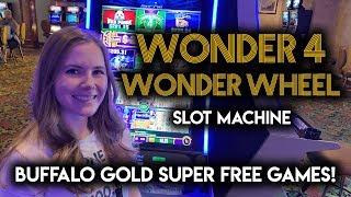 Super Free Games on Wonder 4 Buffalo Gold Slot Machine!