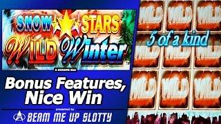 Snow Stars Slot Bonuses - More Free Games, More Wilds, More Multipliers