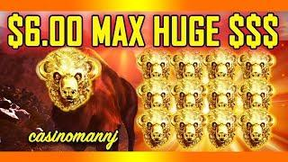 "$6.00 •HUGE MAX• $$$ - •BUFFALO GOLD SLOT• - ""WITHOUT HEAD - YOU'RE DEAD!"" - Slot Machine Bonus"