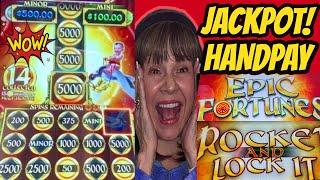 New! Handpay Jackpot! Epic Fortunes-Rocket and Lock It!