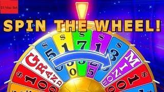 Wheel Of Fortune Slot Machine  Bonus •SPIN WHEEL• $5 Max Bet !!!! 2 Bonuses