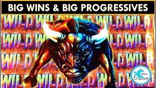 BIG WINS! Rumble Rumble Slot Machine at Wynn w/ Both Progressives!