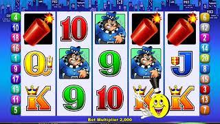MR CASHMAN JAILBIRD Video Slot Casino Game with a CASHMAN ADDS CREDITS HANDLE BONUS