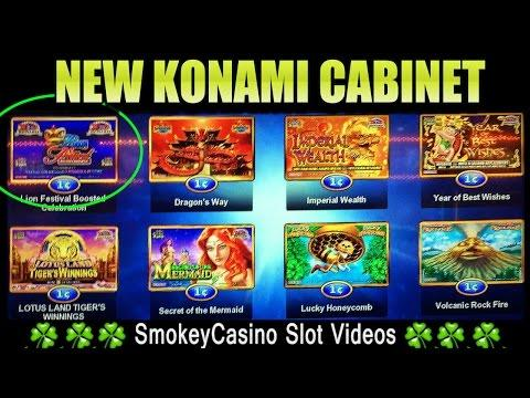 ᐅ Lion Festival Slot Machine Bonus New Konami Cabinet