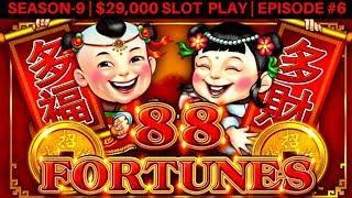 88 Fortunes Slot Machine Max Bet Live Play | Season 9 | Episode #6