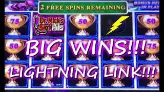 •️CAN LIGHTNING STRIKE TWICE?!?•️ BIG WINS WITH LIGHTNING LINK!!!