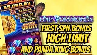 FIRST SPIN BONUS! HIGH LIMIT JACKPOT VAULT & PANDA KING BONUS