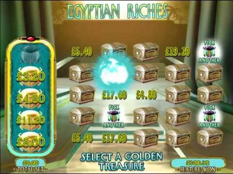 £270.40 Mega Big Win (338 X STAKE) On Egyptian Riches™ AT JACKPOT PARTY®