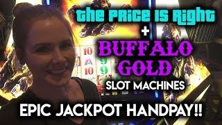 EPIC JACKPOT Handpay! Buffalo Gold!!! My Best Win EVER!!! Price is Right Showcase Wheel Bonus!