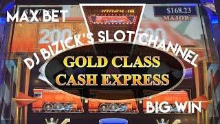 Gold Class Cash Express Slot Machine BONUS! ~ TRAIN FEATURE ~ MAX BET ~ BIG WIN ~ KEWADIN CASINO! •