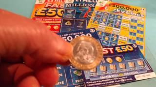 Scratchcards..SKULL Game...Millionaire 7's..Lucky Lines..9x Lucky..Fast 500..250.000 Blue..Fast 50
