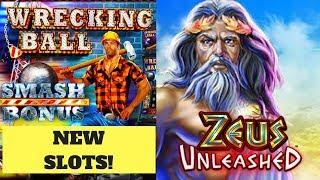 •1ST ATTEMPT!• WRECKING BALL & ZEUS UNLEASHED SLOT MACHINES
