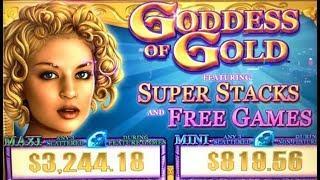 •GODDESS OF GOLD• FULL SCREEN OF!? FEAT. SUPER STACKS (IGT) Slot Machine Bonus