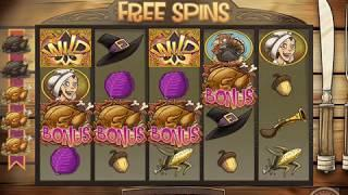 "PILGRIMS! Video Slot Casino Game with an ""AMAZING WIN"" FREE SPIN BONUS"