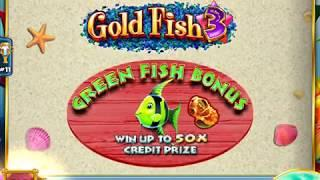 "GOLD FISH 3 Video Slot Casino Game with a ""BIG WIN"" GREEN FISH BONUS"