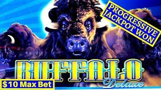 •AWESOME SESSION•! W4 Jackpot Slot BIG WIN! Buffalo Deluxe PROGRESSIVE JACKPOT & Super Free Games |