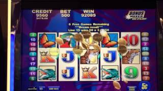 HUGE Jackpot with 3 Extra BONUS Rounds for over 20 FREE Spins at $25 pull on Brazil Slot Machine