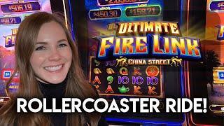 Last Spin BONUS! Ultimate Fire Link China Street Slot Machine!